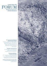 Aktuelle Informationen der LGT Bank (Schweiz) AG Ausgabe Oktober 2009