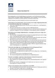 Format (aandachtspunten) beleidsnotitie en College voorstel
