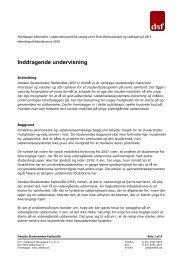 politikpapir - inddragende undervisning - Danske Studerendes ...