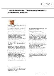 Cooperative Learning – Lærerstyret undervisning – på ... - Cubion