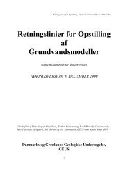 Retningslinier for Opstilling af Grundvandsmodeller - National ...