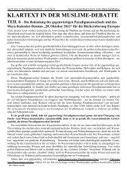 Klartext Teil 6 - Weltordnung.ch