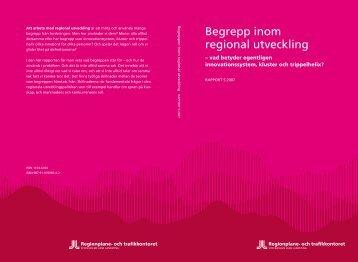 Begrepp inom regional utveckling - SLL Tillväxt, miljö och ...