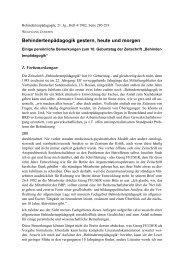 Behindertenpädagogik gestern, heute und morgen - Wolfgang Jantzen
