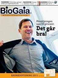 Årsredovisning 2011 - BioGaia
