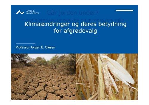 Går jorden under? Klimaændringer og deres betydning for ...