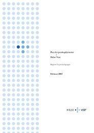 Plan for patologitjenester i Helse Vest 2004