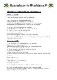 Einladung und Festprogramm zum Schützenfest 2013
