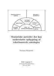 Statistiske metoder der kan understøtte opbygning af tekstbaserede ...