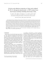Friction and adhesion properties of clean and oxidized - SCALE ...