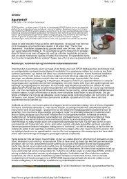 Agurketid? Side 1 af 6 Geiger.dk :: Artikler 16-05-2008 http://www ...