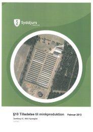 §10 Tilladelse til minkproduktion Februar 2013 - Syddjurs Kommune