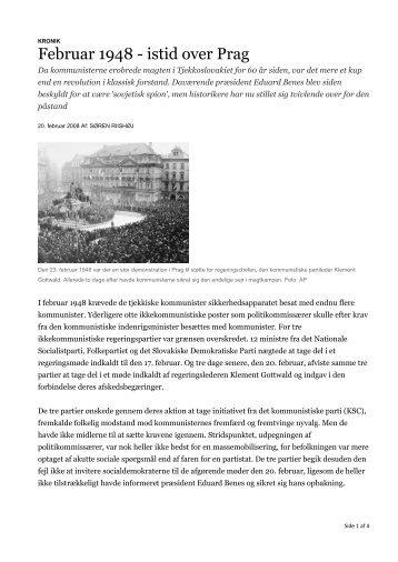 Februar 1948 - istid over Prag