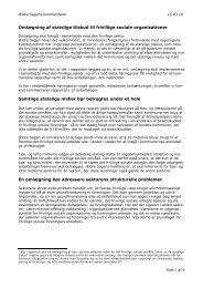 Omlægning af statslige tilskud til frivillige sociale ... - Ældre Sagen