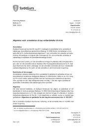 Afgørelse vedr. anmeldelse af nye velfærdshaller til mink - Syddjurs ...