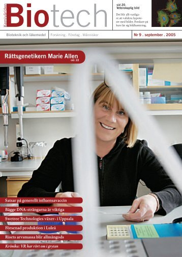 Rättsgenetikern Marie Allen - Mentoronline.se