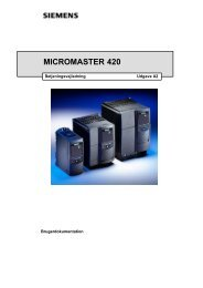 MICROMASTER 420 frekvensomformer (1.1 MB) - Siemens