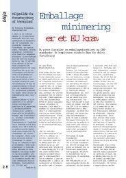 Emballage minimering er et EU krav - Techmedia