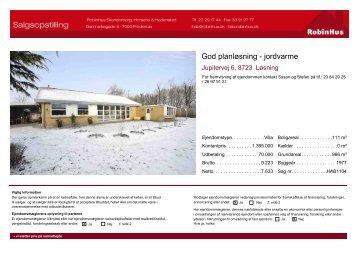 Salgsopstilling for HAB1104 - hab@robinhus.dk