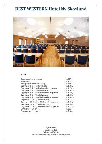 Prisliste (.pdf) - Hotel Ny Skovlund
