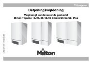 Betjeningsvejledning - Milton