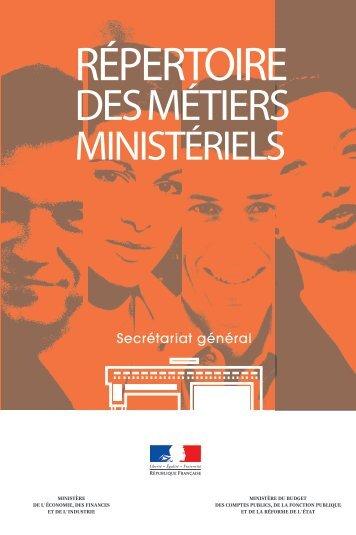 REPERTOIRE DES METIERS MINISTERIELS - economie.gouv