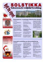 Nytt fra styret - desember 2009.pdf - Solfjellet borettslag