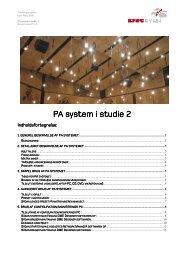 PA system i studie 2 PA system i studie 2 - DR