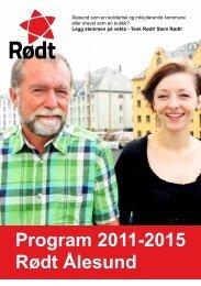Program 2011-2015 Rødt Ålesund - Rød Ungdom