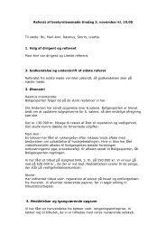 Referat af bestyrelsesmøde tirsdag 3. november kl ... - A/B Bergthora