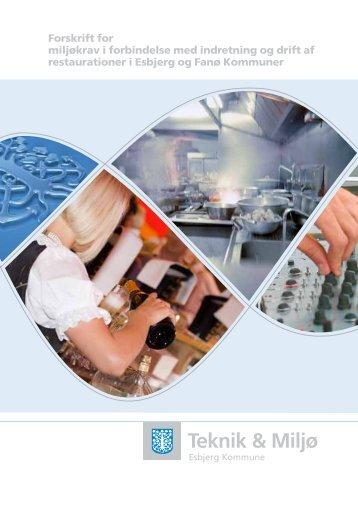 Forskrift for miljøkrav i forbindelse med indretning og drift af ...