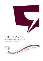 Brugervejledning for Windows 7 / Vista - Dictus
