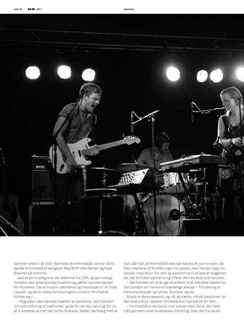 Interview i magasinet 24/12, november 2011 - Himmelblå