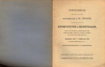 ANTIKVITETER og KUNSTSAGER,