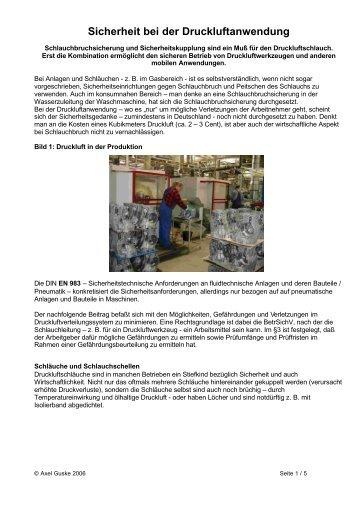 Sicherheit bei der Druckluftanwendung 2.8.06b - Druckluftservice.de