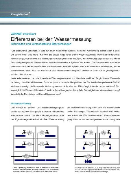 Differenzen bei der Wassermessung er Wassermessung - Zenner