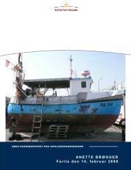 ANETTE BRØGGER rapport - Søfartsstyrelsen