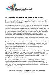 At være forælder til et barn med ADHD - ADHD Awareness Danmark