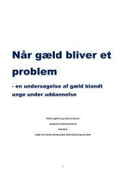 Når gæld bliver et problem (2011) - Danske Studerendes Fællesråd