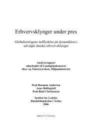Rapport: Erhvervsklynger under pres - Naturstyrelsen