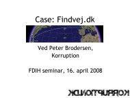 FDIH: Web 2.0, Case: Findvej.dk (2008)