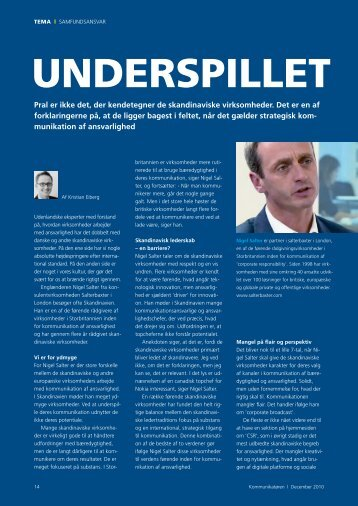 UNDERSPILLET - Dansk Kommunikationsforening