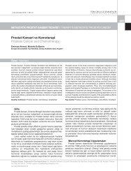 Prostat Kanseri ve Kemoterapi Prostate Cancer and Chemotherapy