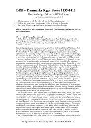 DRB = Danmarks Riges Breve 1135-1412 - Svend C. Dahls ...