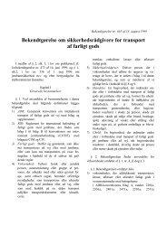 Bekendtgørelse om sikkerhedsrådgivere for transport af farligt gods