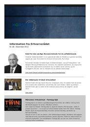 Information nov 2012 nr. 46 - Horsens Erhvervsråd
