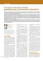 En analyse af de danske familiers gældsætning og finansielle ...
