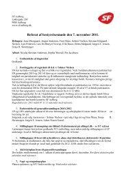 Referat af bestyrelsesmøde den 7. november 2011. - SF