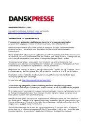 Nyhedsbrevet Dansk Presse nr. 8 - Danske Dagblades Forening