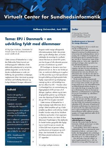 EPJ i Danmark - Dansk Center for Sundhedsinformatik - Aalborg ...